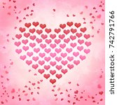 valentines day background... | Shutterstock . vector #742791766