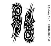 tattoo tribal vector design.... | Shutterstock .eps vector #742794496