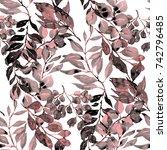 watercolor seamless pattern... | Shutterstock . vector #742796485