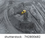 open pit mine  breed sorting.... | Shutterstock . vector #742800682