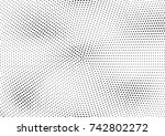 abstract halftone dotted grunge ... | Shutterstock .eps vector #742802272