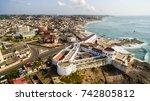 cape coast town ancient slave... | Shutterstock . vector #742805812