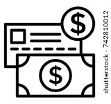 payment vector icon | Shutterstock .eps vector #742810012