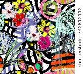 seamless geometric pattern... | Shutterstock .eps vector #742812112