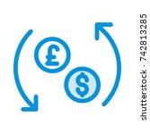exchange icon | Shutterstock .eps vector #742813285