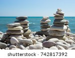 Pebbles Folded In A Structure...