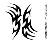 tattoo tribal vector design.... | Shutterstock .eps vector #742819066