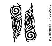 tattoo tribal vector design.... | Shutterstock .eps vector #742819072