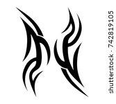 tattoos ideas designs   tribal... | Shutterstock .eps vector #742819105