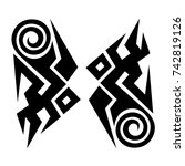 tattoo tribal vector designs.... | Shutterstock .eps vector #742819126