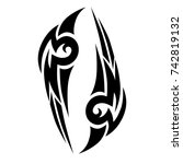 tattoo tribal vector design.... | Shutterstock .eps vector #742819132