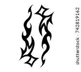 tattoo tribal vector designs.... | Shutterstock .eps vector #742819162