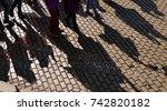 people protest | Shutterstock . vector #742820182