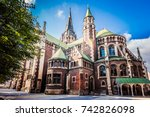 lviv  ukraine   october 7  2017 ...   Shutterstock . vector #742826098
