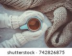 christmas and new year cozy... | Shutterstock . vector #742826875