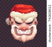 bad santa mask on transparent... | Shutterstock .eps vector #742828012