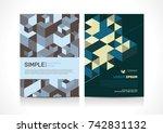 multipurpose flyer template... | Shutterstock .eps vector #742831132