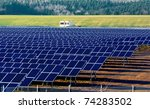 solar power plant under... | Shutterstock . vector #74283502