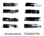 hand drawn vector brush strokes | Shutterstock .eps vector #742836796