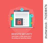 website security  internet ... | Shutterstock .eps vector #742838476
