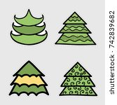holiday icons  patches ... | Shutterstock .eps vector #742839682