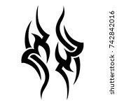 tattoo tribal vector design.... | Shutterstock .eps vector #742842016
