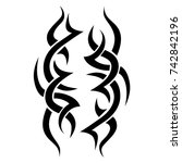 tattoo tribal vector design.... | Shutterstock .eps vector #742842196