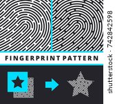 fingerprint pattern | Shutterstock .eps vector #742842598