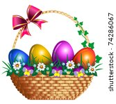 vector eastern basket | Shutterstock .eps vector #74286067