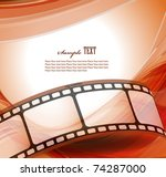 curved photographic film. vector | Shutterstock .eps vector #74287000