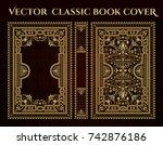 vector classical book cover.... | Shutterstock .eps vector #742876186