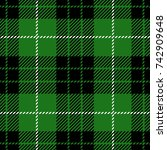 green scottish woven tartan...   Shutterstock .eps vector #742909648