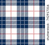 blue and white scottish woven... | Shutterstock .eps vector #742917316
