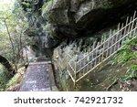 nokogiriyama mountain in chiba  ... | Shutterstock . vector #742921732