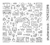 vector line web banner for... | Shutterstock .eps vector #742922398