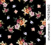 flowers pattern..for textile ... | Shutterstock . vector #742923652