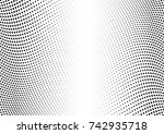 abstract halftone wave dotted... | Shutterstock .eps vector #742935718