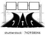 vector cartoon drawing of blank ...   Shutterstock .eps vector #742938046