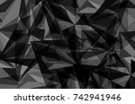 vector dark gray soft shadow... | Shutterstock .eps vector #742941946