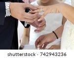 wedding rings | Shutterstock . vector #742943236