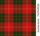 christmas and new year scottish ... | Shutterstock .eps vector #742949026