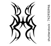 tattoo tribal designs. sketched ... | Shutterstock .eps vector #742950946