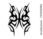 tattoo tribal vector design.... | Shutterstock .eps vector #742950982