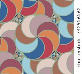 abstract color seamless pattern ... | Shutterstock .eps vector #742956562
