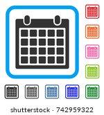 calendar icon. flat gray iconic ...