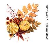 Autumn Wreath Of Leaves ...
