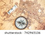 finance  business  coins ... | Shutterstock . vector #742965136