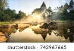 hot springs in national park... | Shutterstock . vector #742967665