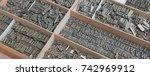 background of old vintage... | Shutterstock . vector #742969912