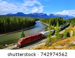 train passing famous morant's... | Shutterstock . vector #742974562